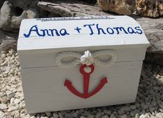 Nautical Themed Wedding Card Box