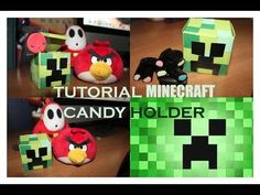 Diy tutorial: How to make a MINECRAFT CREEPER candy holder - YouTube