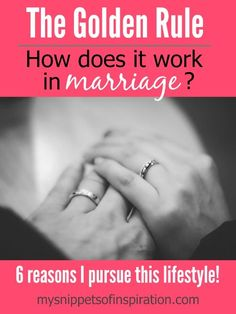 One of the most harmful things to a marriage (or any relationship) is selfishness. Selfishness in marriage will deteriorate a marriage quickly. Demonstrating the golden rule is essential. Do unto Hubby what I would want Hubby to do (or act) unto me.