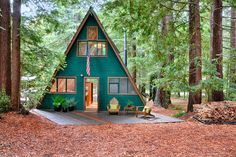 Classic 1963 A-Frame Cabin in the Woods of Northern California - Cabin Life Magazine