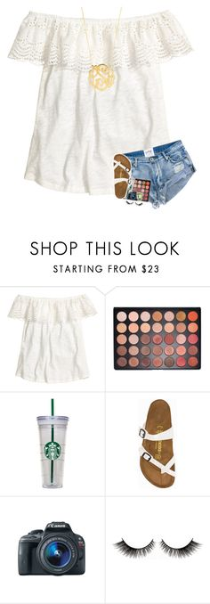 """""""{B is for Birkenstocks}"""" by sanddollars ❤ liked on Polyvore featuring Morphe, WALL, Birkenstock, Eos and BaubleBar"""