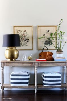 Hi Sugarplum   How to Style a Console Table