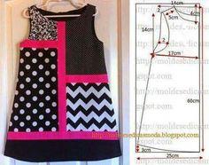 Pola dress for kids