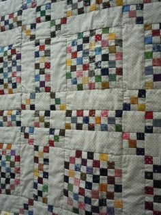 Love the look of this quilt which would also use up a lot of scraps!!