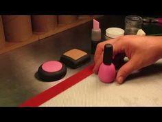 How To Make A Gumpaste Nail Polish - YouTube