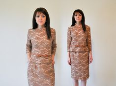 Vintage 1960s Designer Couture Rhinestone & by RockAndRollVintage, $125.00