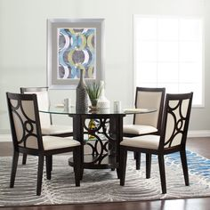 Modest in size, but big with possibility the Gatsby Dining Collection - Jerome's Furniture