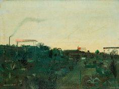 Kamil Lhoták - zahrada 1944 Classic Paintings, Siena, Garden, Oil, Garten, Lawn And Garden, Gardens, Gardening, Outdoor