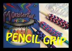 Rainbow Loom Monster Tail Pencil Grip or Hook Cozy Cover