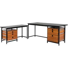 Rare Executive Desk by Jules Wabbes, Old Version 1