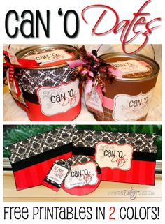 Wedding gift idea | Can O' Dates thedatingdivas.com #marriage #weddinggift #dates