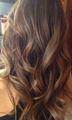 Good for summer 2015 Balayage Highlights Hair Inspiration Pelo Midi, Hair Color And Cut, Hair Highlights, Subtle Highlights, Caramel Balayage Highlights, Great Hair, Hair Dos, Gorgeous Hair, Balayage Hair