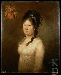 Christiaan van Geelen (I) Portret van Elisabeth Jacoba van der Does (1770 -1824),  ca. 1802 particuliere collectie
