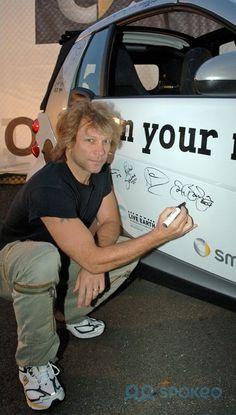 Jon Bon Jovi Live Earth sponsored by Smart Car