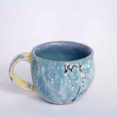 Handmade glazed ceramic mug, mug for tea, blue  mug, Stoneware mug, pottery mug, ceramics and pottery, coffee mug, tea cup, gift, dinning by PotterAsh on Etsy