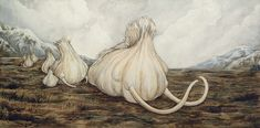 Mammoth Garlic by ursulav acrylic on gessoboard* follow the link and read the artist's explanation. Dig it.