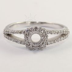 NEW 925 Sterling Silver Semi Mount Engagement CZ Ring 5mm Round Setting ANY SIZE #Unbranded
