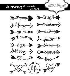 17 digital arrows with words. Various arrows, love, life Arrows words clipart. 17 digital arrows with words. The Words, Poster Design Software, Arrow Words, Arrow Clipart, Clip Art, Journal Paper, Arrow Tattoos, Word Art, Printable Art