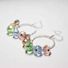 DIY Loop Earrings: Tutorial on how to make these sparkly earrings