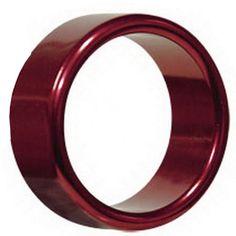 Aluminiumpenisring. 5 cm im Durchmesser Rot
