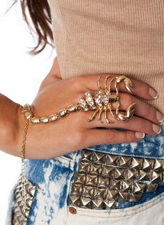 scorpion-hand-bracelet for us Scorpios.