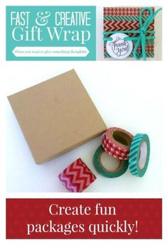 Fast & Creative Gift Wrap | You don't have to be crafty to create a fun gift wrapped package! I'm sharing fool proof ways that don't take a lot time or skill!