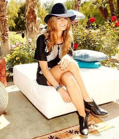 Stana Katic at Coachella  Not usually my comfort zone but she makes me want to try it!