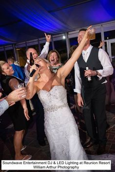 When clients trust their Professional Wedding DJ to do their thing, and don't handcuff us to a strict playlist, this is what happens!!! Soundwave Entertainment Orlando providing DJ and Lighting, djsoundwave.net, at Reunion Resort; William Arthur Photography
