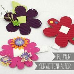 Blumen-Serviettenhalter