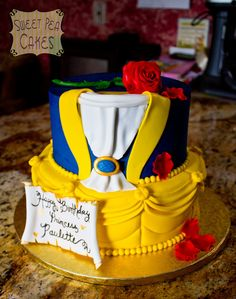 beauty and the beast cake, I want this for my birthday!!