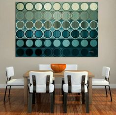 Dining Room - Casual dining with modern art