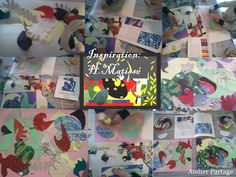 Inspiration Matisse, textile and paper collage, Atelier Partage
