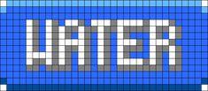 Pokemon Water Type Perler Bead Pattern / Bead Sprite