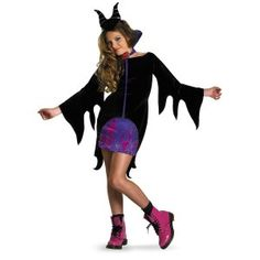 Girls Maleficent Costume for Halloween