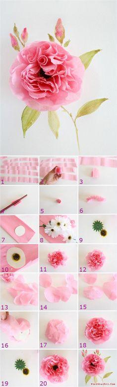 Gợi ý các cách làm hoa giấy ấn tượng như thật