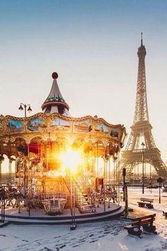 outdoor merry-go-round / carousel in Paris