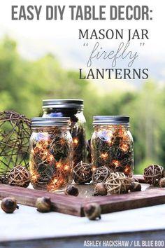 Fall Mason Jar Centerpiece - Mason Jar Crafts Love