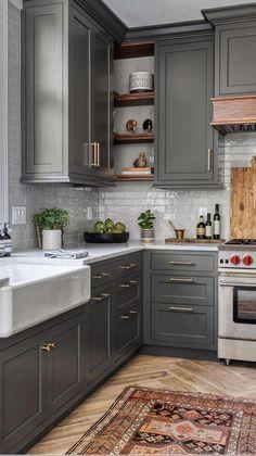 Kitchen Room Design, Kitchen Cabinet Design, Kitchen Redo, Modern Kitchen Design, Home Decor Kitchen, Interior Design Kitchen, Home Interior, Home Design, Home Kitchens