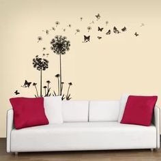 New Dandelion Wall Decal by Ebern Designs Home Decor Furniture. Fashion is a popular style Wall Stickers Dandelion, Flower Wall Stickers, Window Stickers, Vinyl Wall Quotes, Vinyl Wall Decals, Quote Wall, Kids Room Wallpaper, Mural Art, Murals