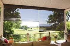Insolroll Exterior Solar Shades Help To Create A Tropical Patio By  Insolroll Window Shading Systems