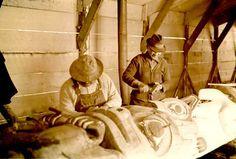 Sitka National Historic Park - - CCC (Civilian Conservation Corps) era restoration of Totem Poles, Sitka (Alaska). Historical Sites, Historical Photos, Cigar Store Indian, Sitka Alaska, Rainy City, Harpers Ferry, Totem Poles, Sacred Art, Wood Carvings
