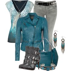 """""""Leather Jacket II"""" by brendariley-1 on Polyvore"""