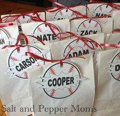 Salt and Pepper Moms: Baseball Snack Tags Softball Party, Baseball Party, Softball Mom, Sports Party, Baseball Season, Baseball Tickets, Baseball Treats, Baseball Boys, Baseball Birthday
