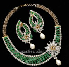 Jewellery Designs: Emeralds and Diamonds Exclusive Choker