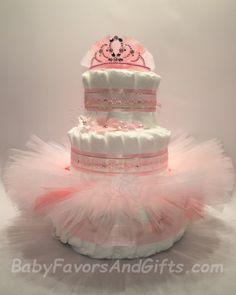 Ballerina+Tutu+Diaper+Cake #babyshowergifts