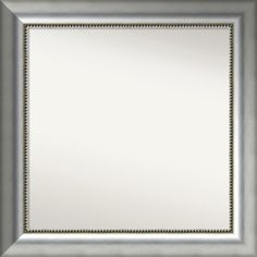 Wall Mirror Choose Your Custom Size Medium, Vegas Burnished Silver Wood (Outer Size: 35 x 26-inch)