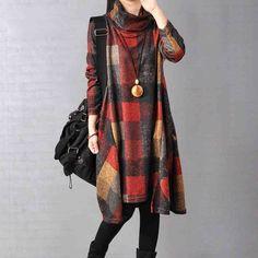 Women cotton loose autumn dress                                                                                                                                                                                 More