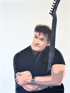 Portrait of Johnny Clegg by David Mack. Acrylic on canvas