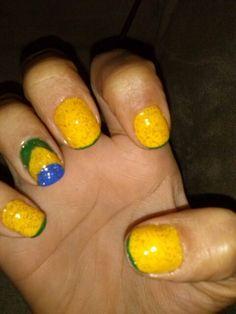 Unhas, nail, br, asil, brasil, verde e amarelo, decor, desing