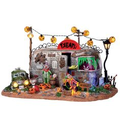 Lemax Spooky Town Collection  Killer Clown Mobile Home